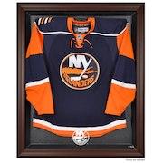 New York Islanders Fanatics Authentic Brown Framed Logo Jersey Display Case