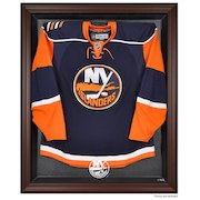 New York Islanders Fanatics Authentic Brown Framed Logo Jersey Display Case