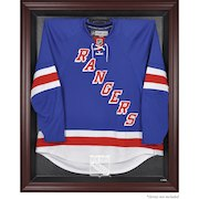 New York Rangers Mahogany Framed Jersey Display Case