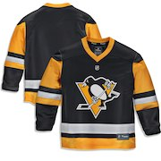 Pittsburgh Penguins Fanatics Branded Youth Home Replica Blank Jersey - Black