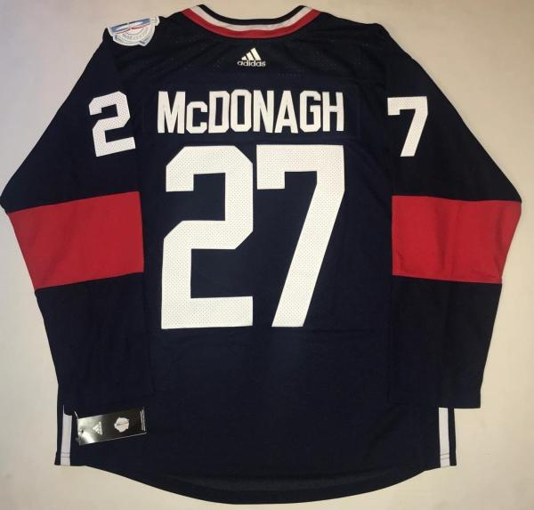 half off 7d483 272ce Ryan McDonagh Team USA 2016 World Cup of Hockey Adidas Premier jersey SZ  Large