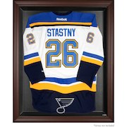 St. Louis Blues Brown Framed Logo Jersey Display Case
