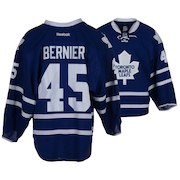 Jonathan Bernier Toronto Maple Leafs Fanatics Authentic Game-Used #45 Blue Jersey from the 2015-16 NHL Season - Size 58G
