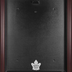 Toronto Maple Leafs (2016-Present) Mahogany Framed Logo Jersey Display Case