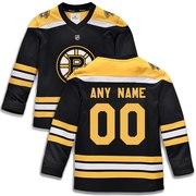 Boston Bruins Fanatics Branded Youth Home Replica Custom Jersey - Black