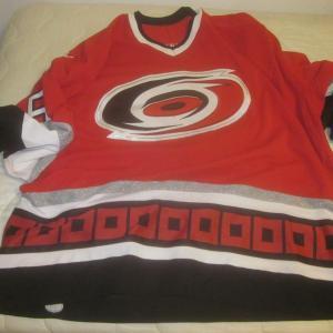 2001/2002 NHL Hockey Carolina Hurricanes Game Used Jersey #35 Tom Barrasso LOA
