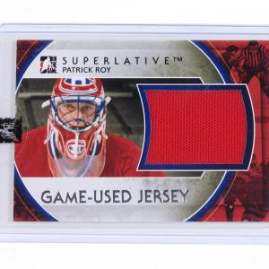 2012-13 ITG In The Game Superlative Patrick Roy Silver Jersey /30