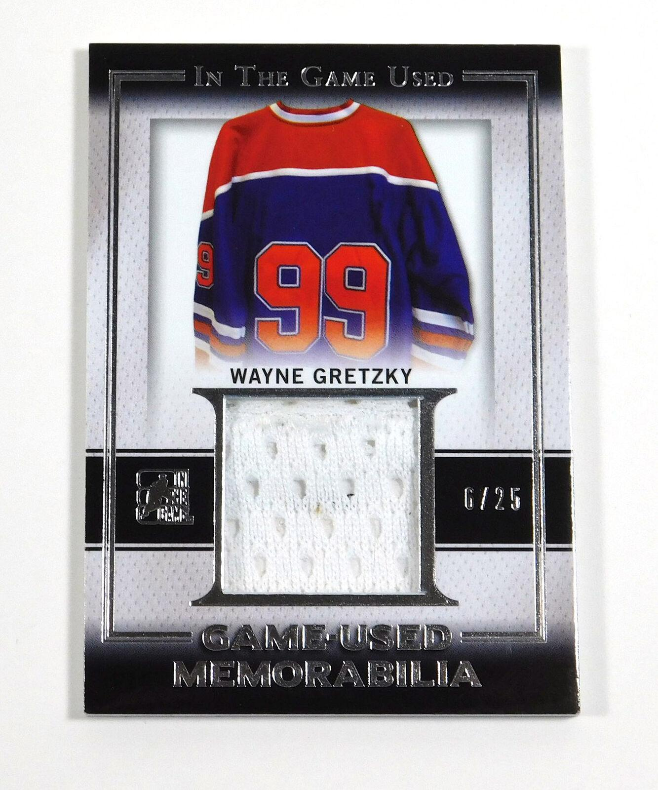 newest c5e57 4bff6 2016-17 ITG In The Game Used Wayne Gretzky Game Used Memorabilia Jersey /25  · The World Table Hockey Association, Inc.