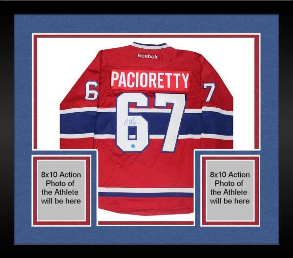 new arrival 9d112 e4b90 Framed Max Pacioretty Montreal Canadiens Signed Reebok Premier Hockey  Jersey (AJ Sports)