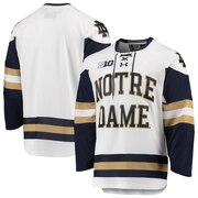 new product 3a8bf cd4a7 Notre Dame Fighting Irish Under Armour Replica College Hockey Jersey - White