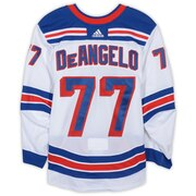 Tony Deangelo New York Rangers Game-Used #77 White Set 2 Jersey from the 2018-19 NHL Season - Size 56