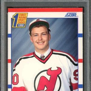 1990-91 score #439 MARTIN BRODEUR new jersey devils rookie card PSA 8.5