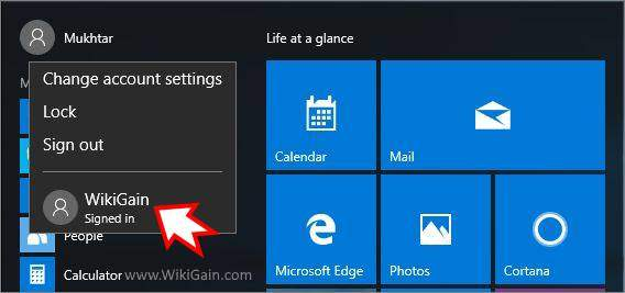 Create New Local Account Windows 10