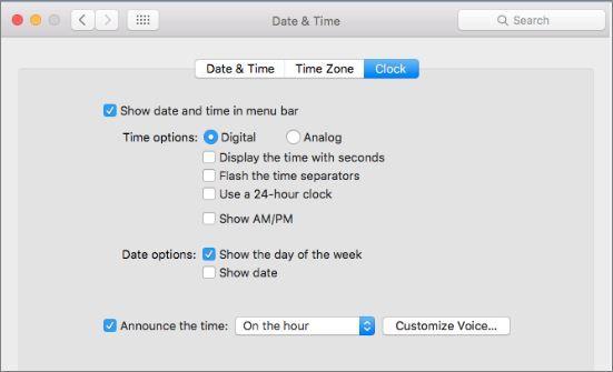 How to Change Mac Clock
