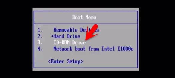 Boot Windows via CD-ROM
