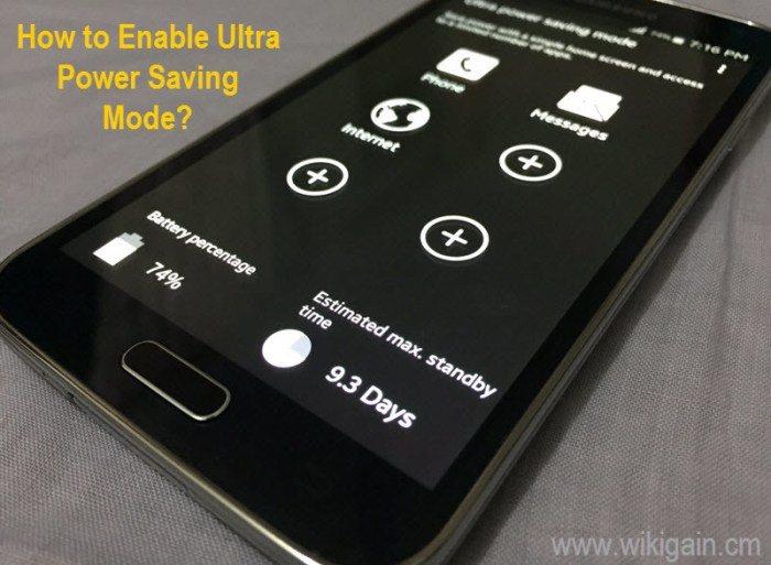 How to Enable Ultra Power Saving Mode