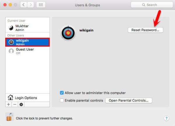 Reset Forgotten Mac OS X El Capitan Password