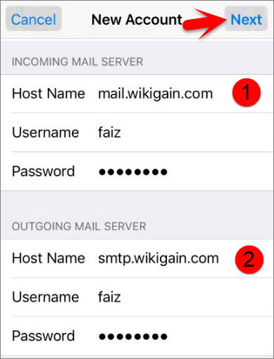 how to change ios mail accounts
