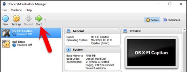 Installing Mac OS X El Capitan 10.11 on VirtualBox
