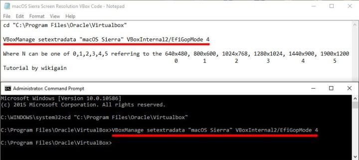 How to Fix macOS Sierra Screen Resolution on VirtualBox?