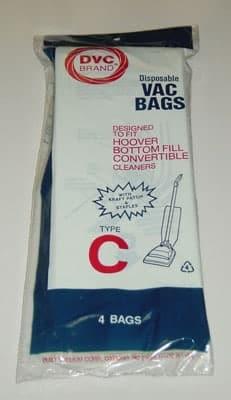"""DVC Hoover """"C"""" BtmFill BAGS-4pkg"""