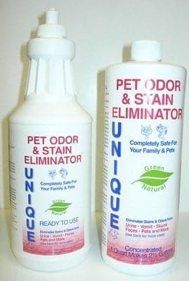 Unique PET ODOR & STAIN ELIMINATOR - Concentrated - Quart