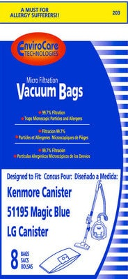 """Kenmore """"51195"""" Micro Bags-8p by ECT"""