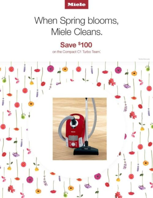When Spring Blooms Miele Cleans
