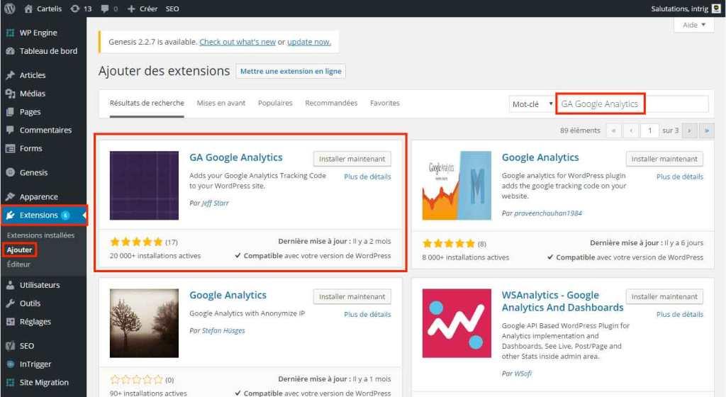 google-analytics-wordpress-install