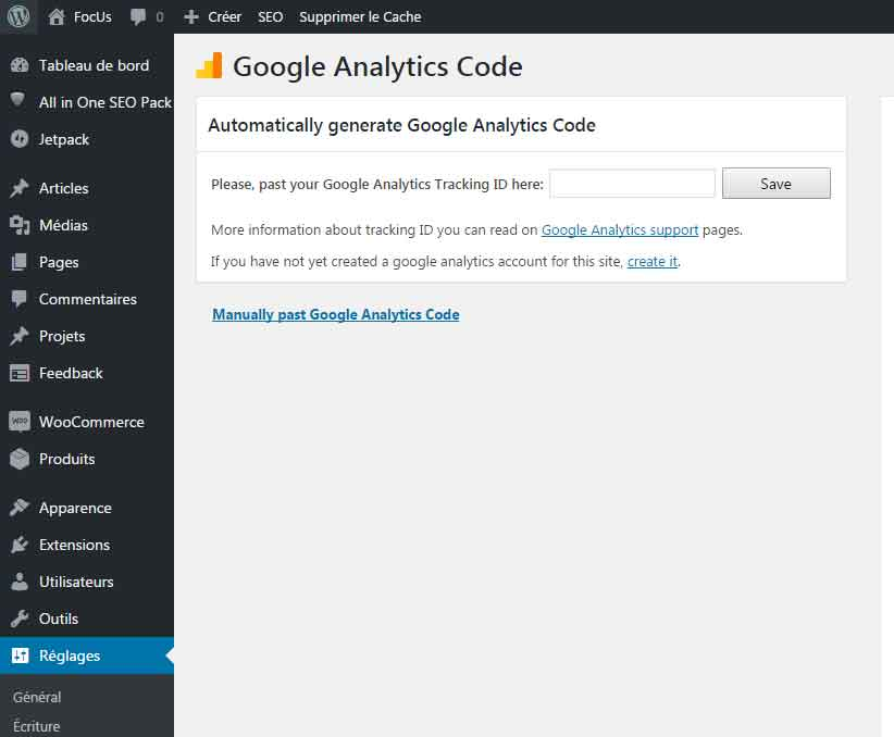 wordpress-code-google-analytics