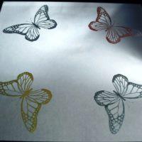 Butterflies Mirror Tile Colorfill Resize