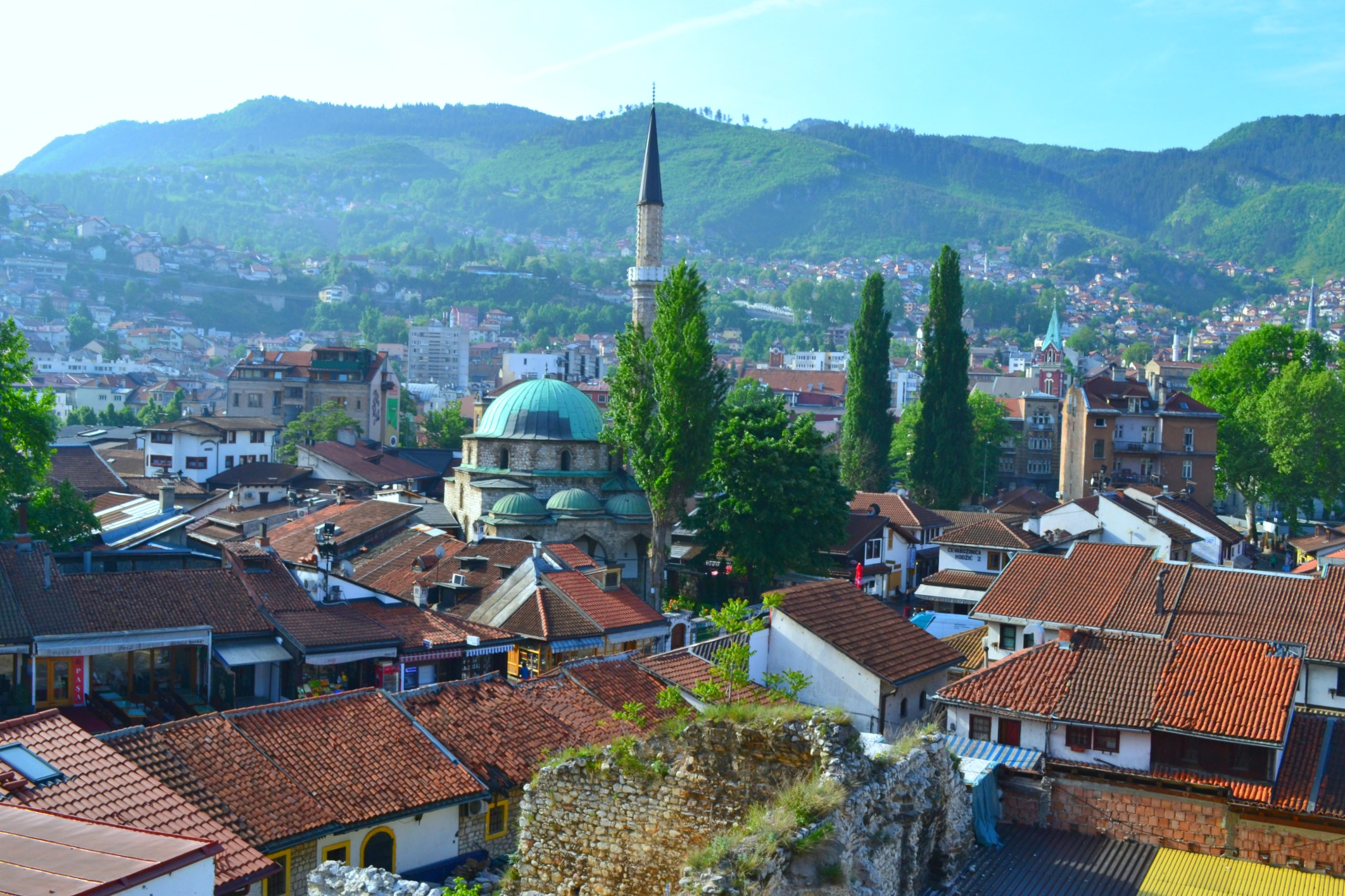 Sarajewo's Old Town. architecture, Bosnia and Herzegovina