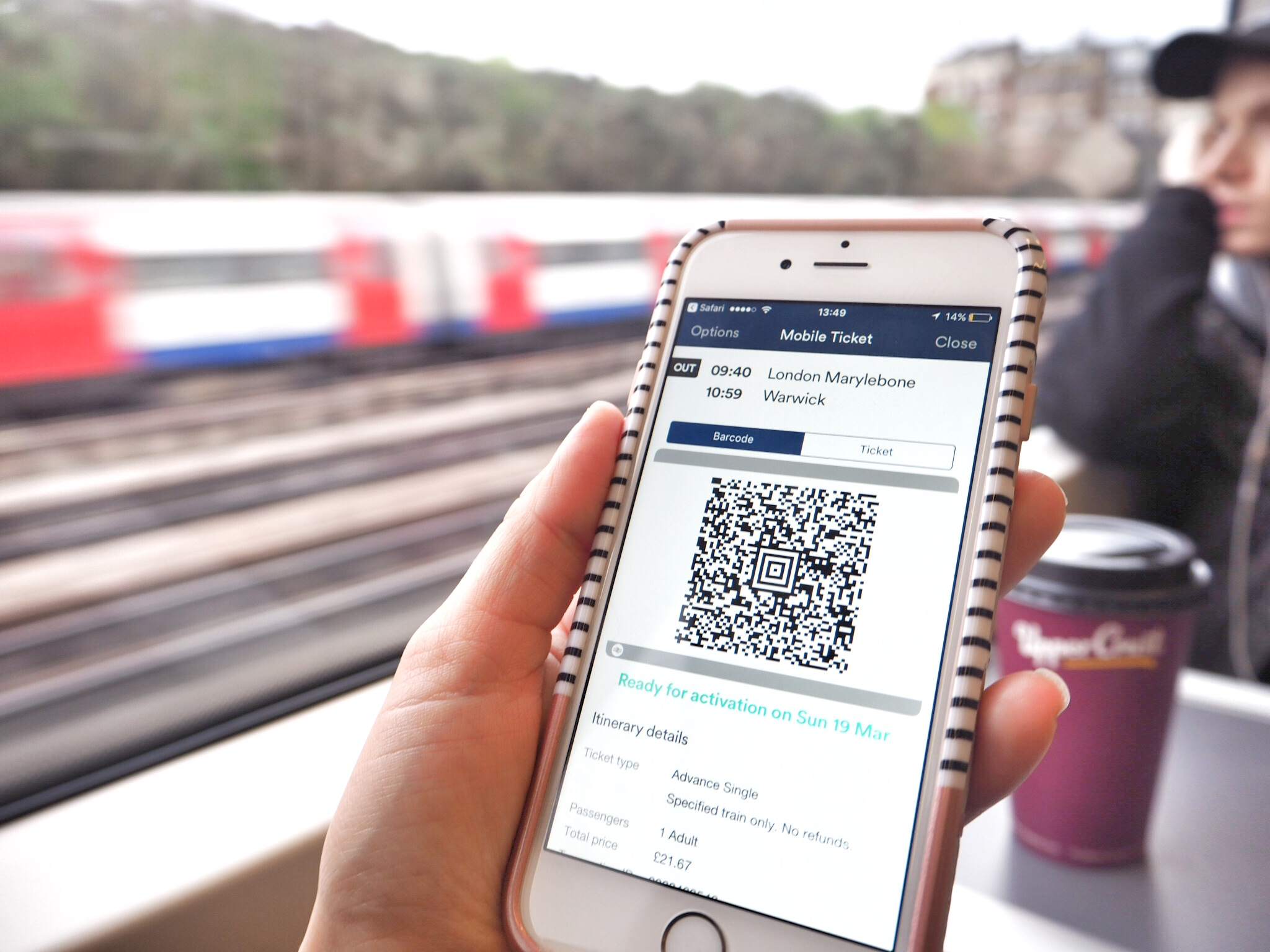 Mobile ticketing Trainline