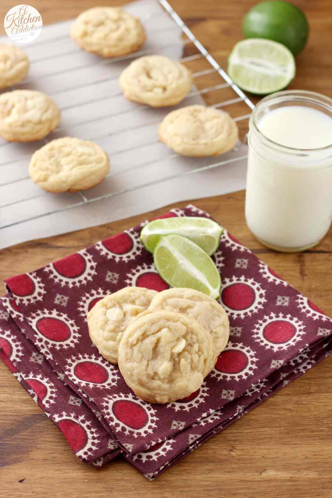 White Chocolate Lime Cookies Recipe L Www A Kitchen Addiction Com