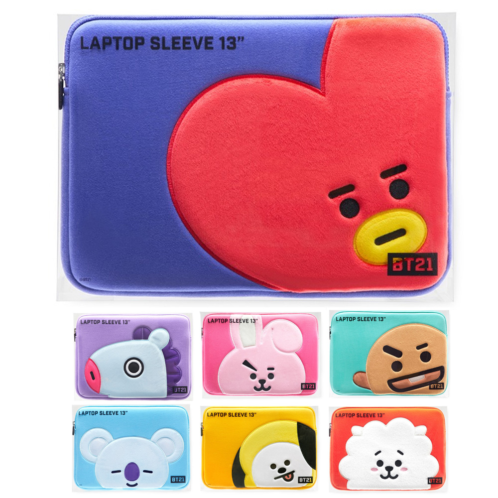 Light Blue BT21 Bite Collection Cooky Character Cute Protective Cotton Laptop Case Sleeve Cover Compatible with 13 Inch Laptops