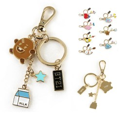 BT21 Metal keyring