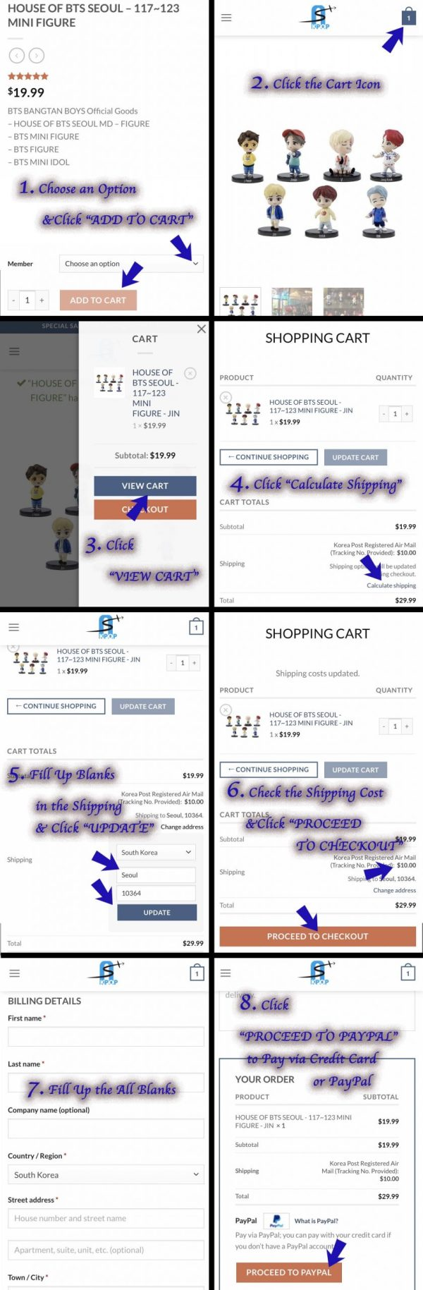 How to check the shipping cost.