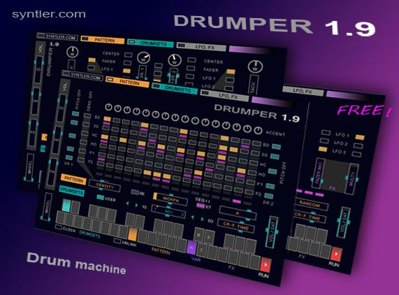 drumper 1 9 the free drum machine from syntler makemusic. Black Bedroom Furniture Sets. Home Design Ideas
