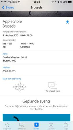 Apple Store Brussel openingtijden