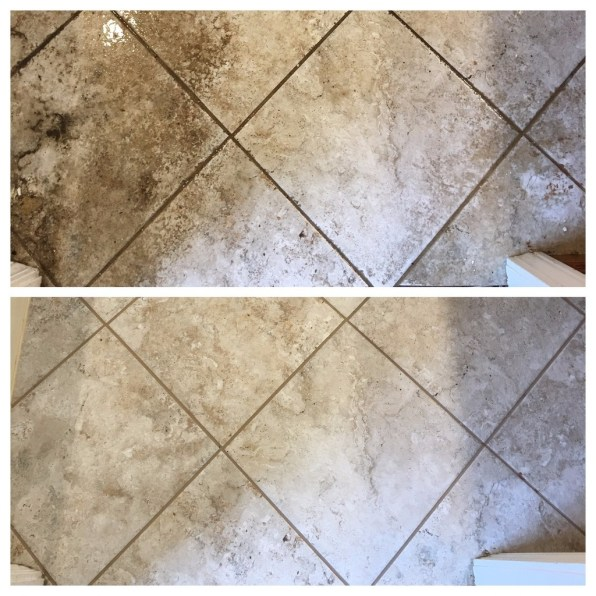 Before and After Tile & Grout Cleaning Edwardsville