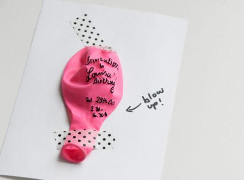 d invitation pour un anniversaire