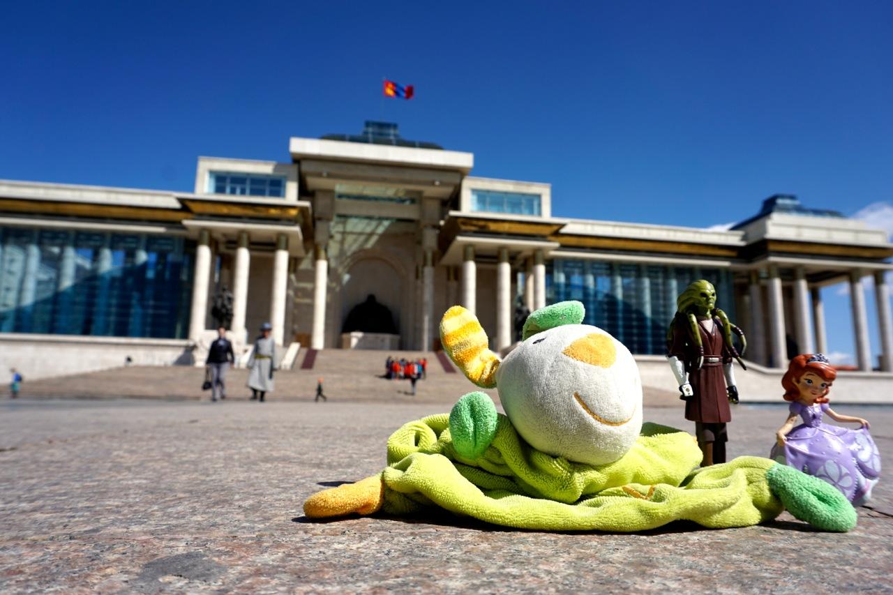 Mongolie, Oulan-Bator, place Gengis Khan