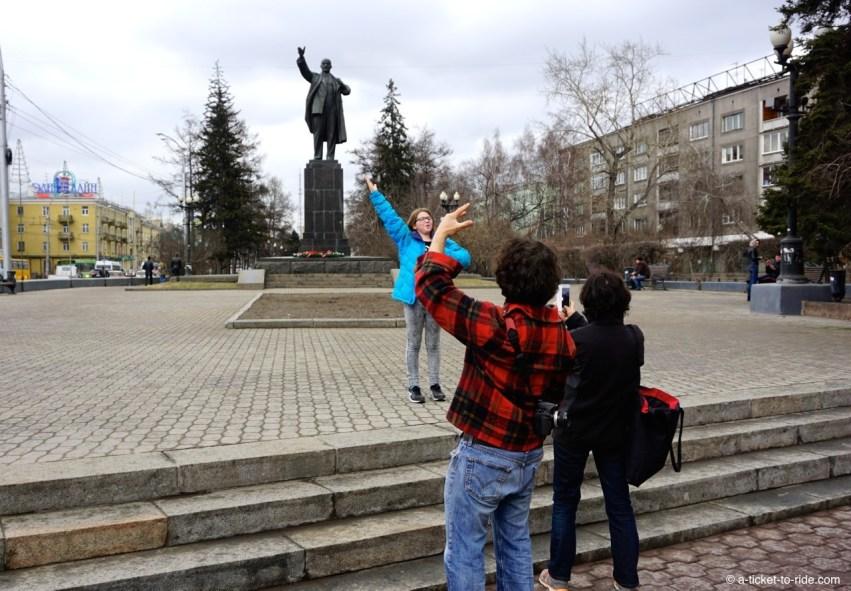 Russie, Irkoutsk, statue