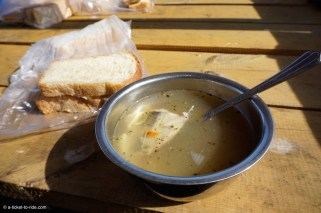 Russie, Olkhon, soupe omoul