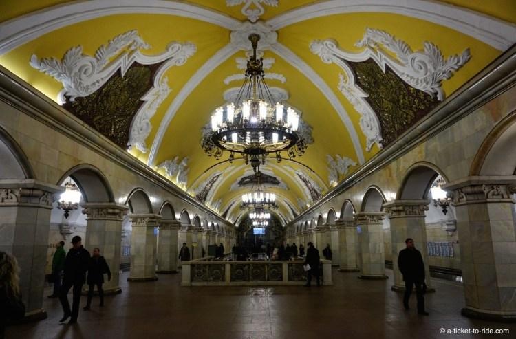 Moscou, ornements du métro