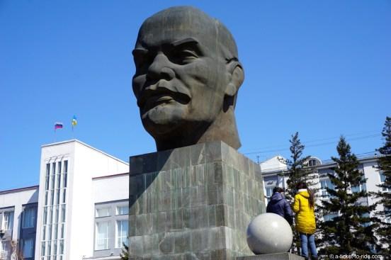 Russie, Oulan Oudé, tête de Lénine