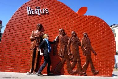 Mongolie, Oulan Bator, Beatles Square