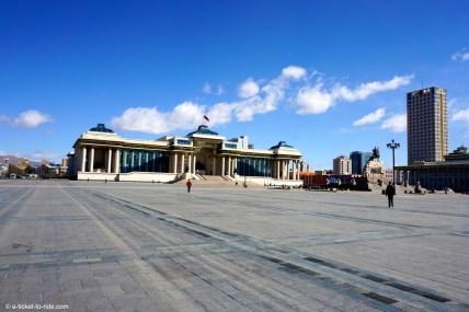 Mongolie, Oulan Bator, Place Genghis Khan