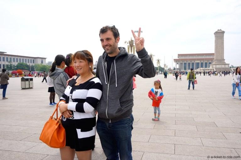 Chine, Pékin, place Tien'Anmen