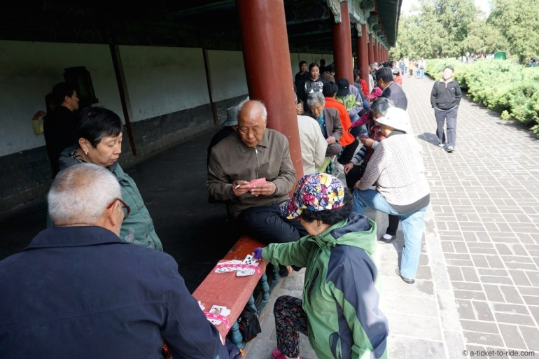 Chine, Pékin, jeux de carte
